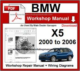 BMW X5 E53 Workshop Repair Service Manual 2000 to 2006 PDF